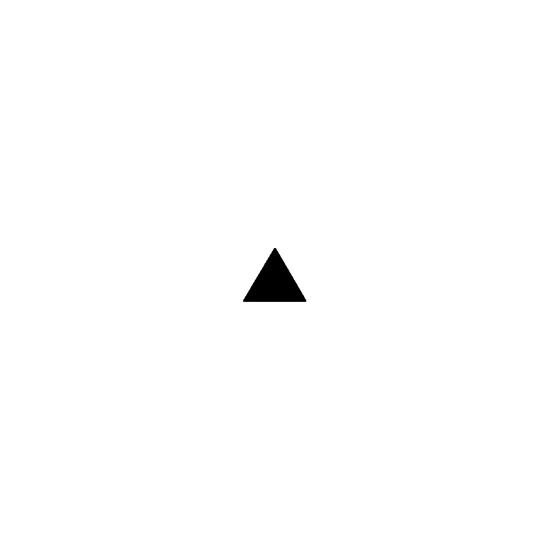 Picture of 2.75 in. tall equilateral triangle