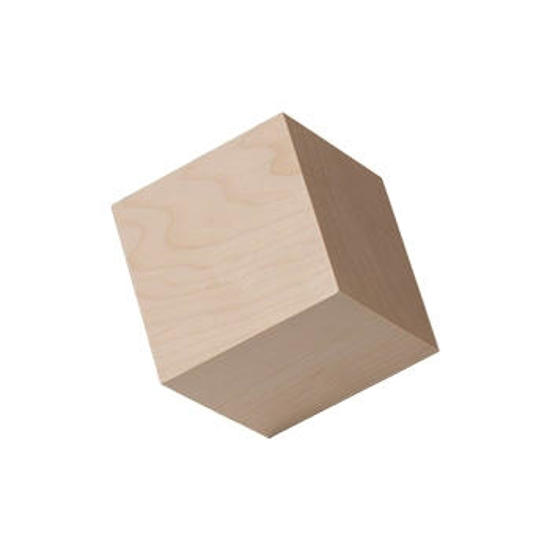 1-3/4 inch hardwood cubes