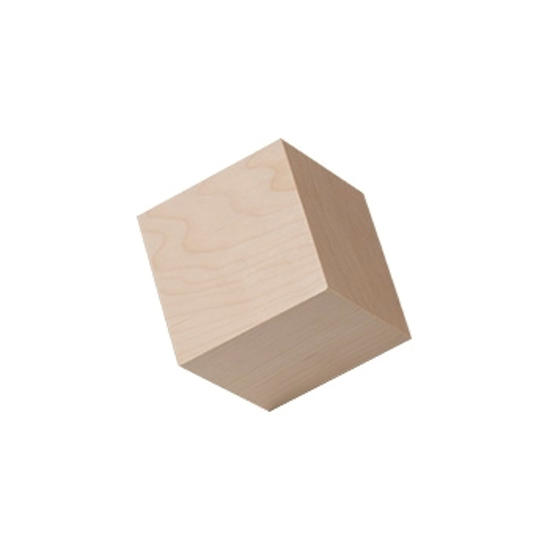 Picture of 2.5  (2-1/2) in. large wood craft cubes