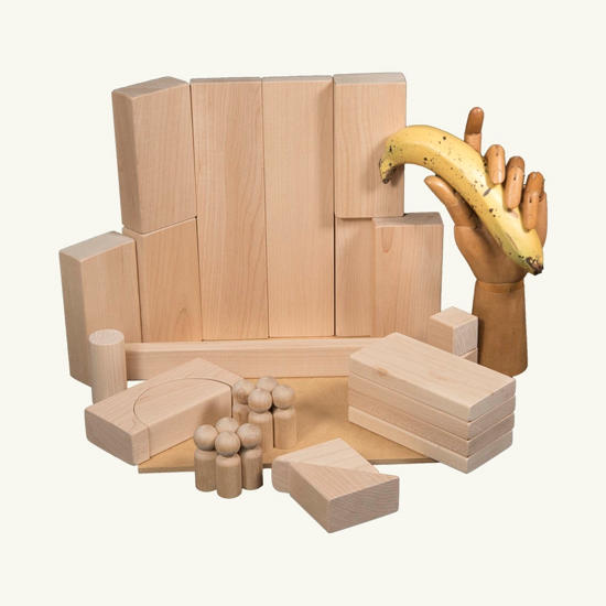 Picture of (INFB16) Small Set of Wooden Blocks Age 3-4