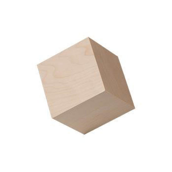 "Picture of 1"" In. hardwood wooden cubes"