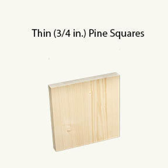 "Picture of 3/4 by 9.5 by 9.5"" Pine square"