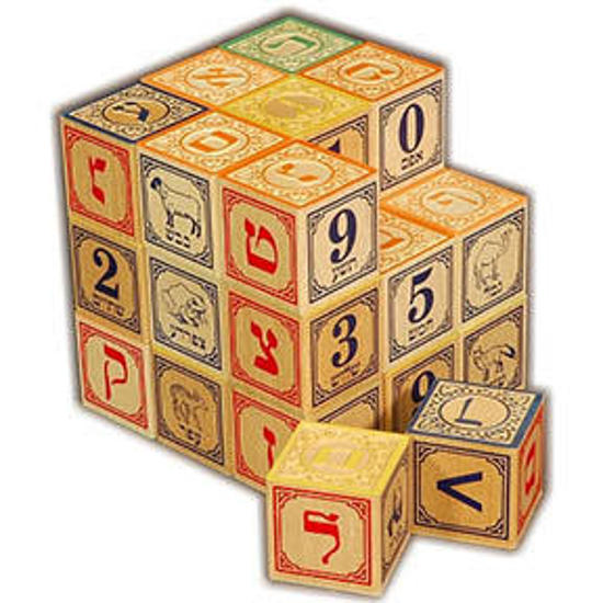 Picture of Hebrew Alphabet Blocks