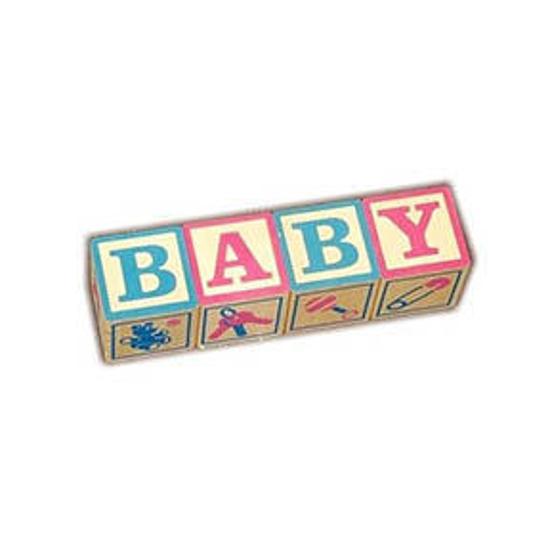 Blocks say Baby