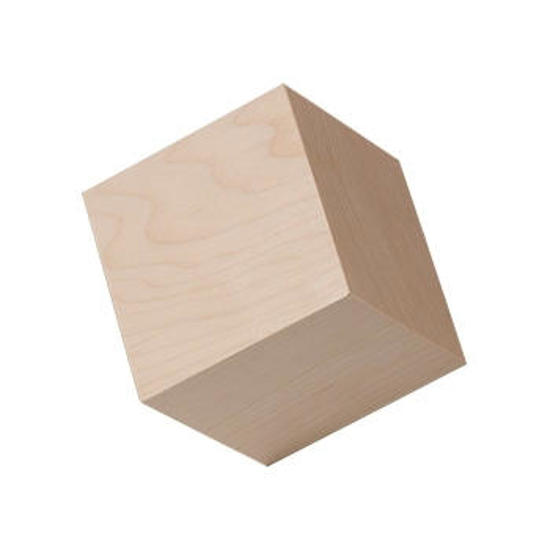 Picture of four inch  (4.0) in. wood craft cubes